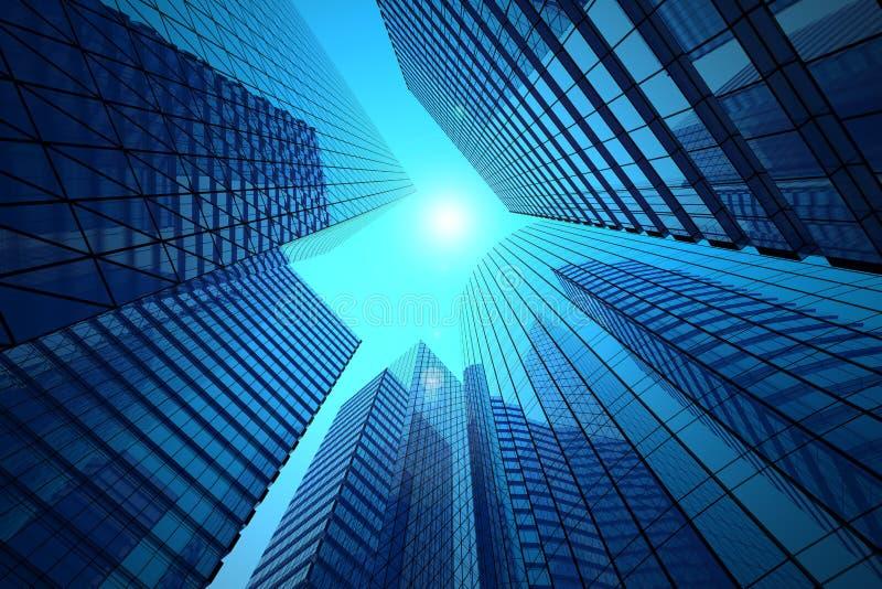 Immeubles de bureaux illustration libre de droits