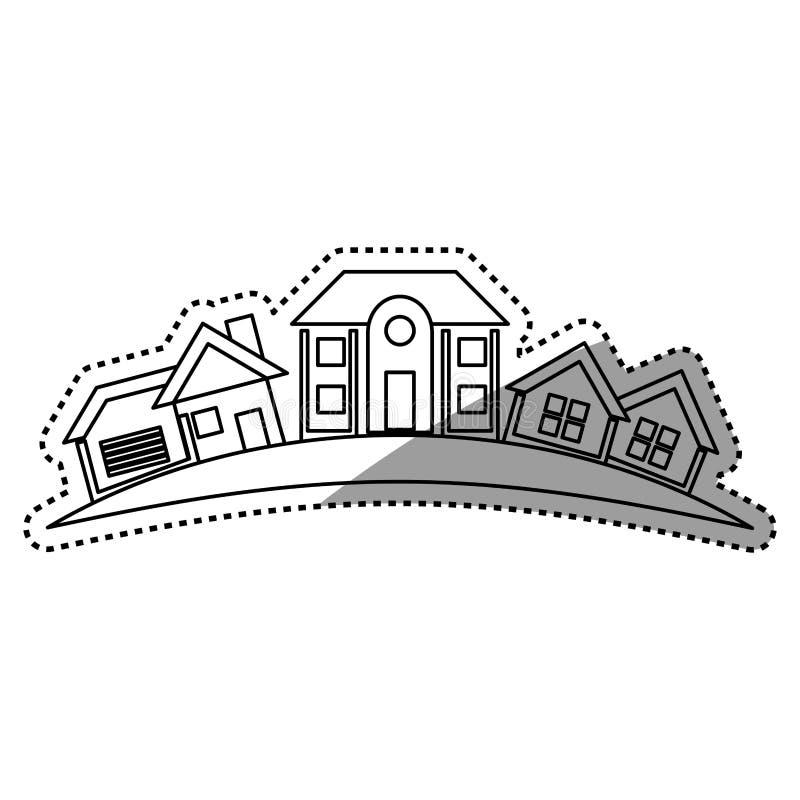 Immeubles de Chambre illustration libre de droits