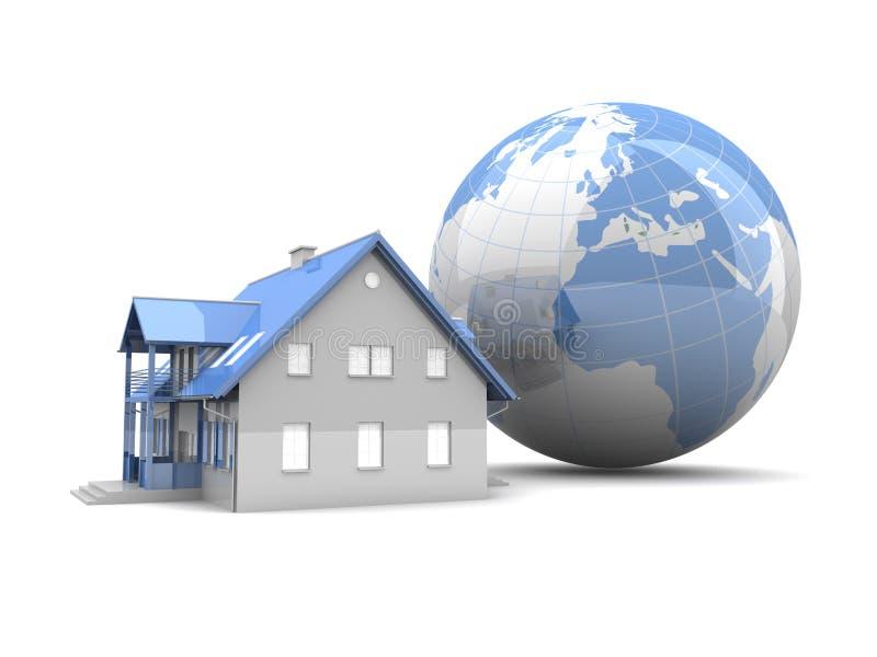Immeubles globaux illustration stock