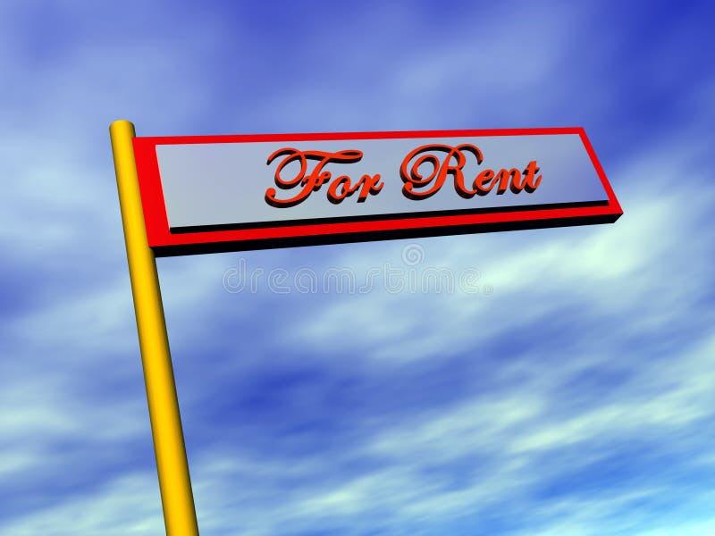 Download Immeubles, pour le loyer. image stock. Image du vendu, fond - 741403