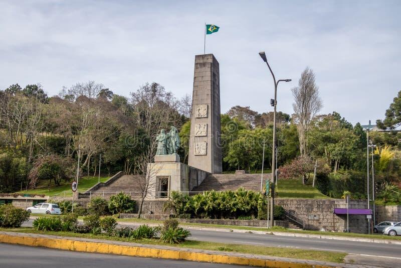 Immigrant Monument - Caxias do Sul, Rio Grande do Sul, Brazil. Immigrant Monument in Caxias do Sul, Rio Grande do Sul, Brazil stock photos