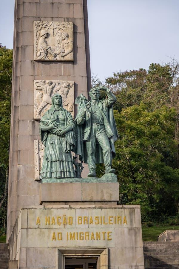 Immigrant Monument - Caxias do Sul, Rio Grande do Sul, Brazil. Immigrant Monument in Caxias do Sul, Rio Grande do Sul, Brazil stock image