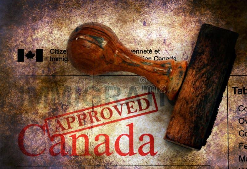 Immigratie Canada - goedgekeurd grunge concept royalty-vrije stock fotografie