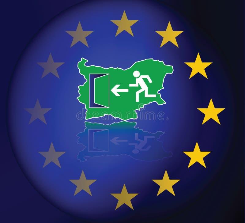 Immigratie van Bulgaren in de Europese Unie vector illustratie