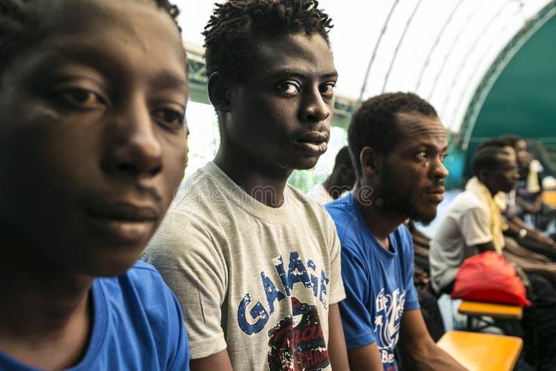 Immigratienoodsituatie in Italië royalty-vrije stock foto