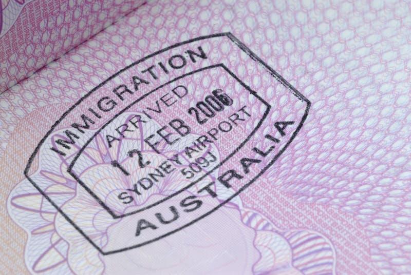 Immigratiezegel royalty-vrije stock fotografie