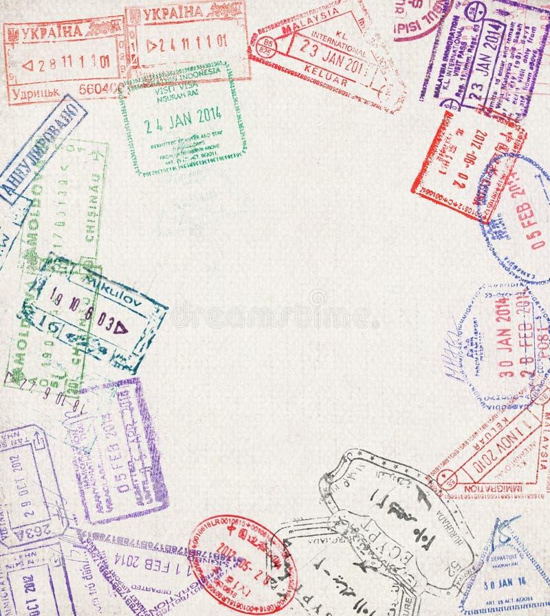 Immigratiezegel stock foto's