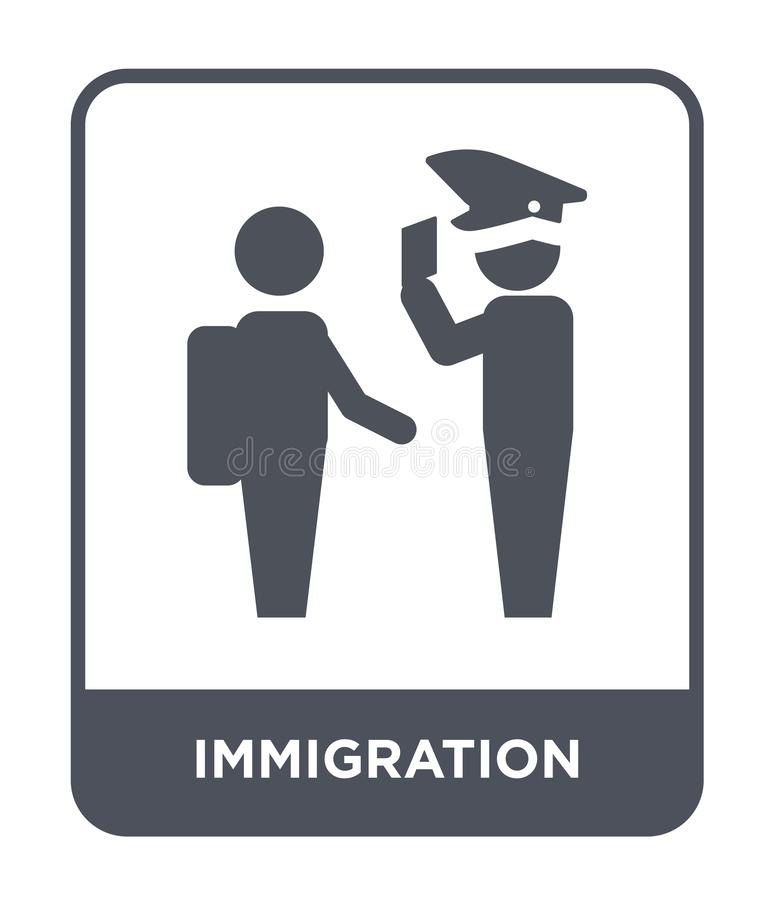 immigration icon in trendy design style. immigration icon isolated on white background. immigration vector icon simple and modern stock illustration