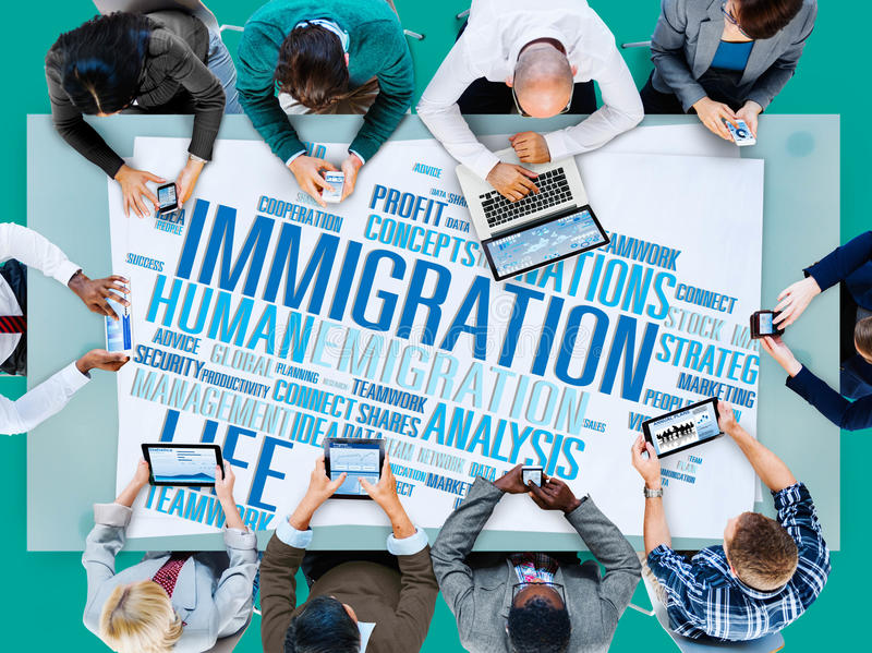 Immigration International Government Law Customs Concept.  stock images
