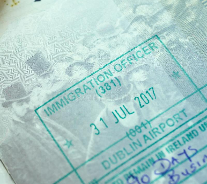Stamp In Passport Stock Image. Image Of International