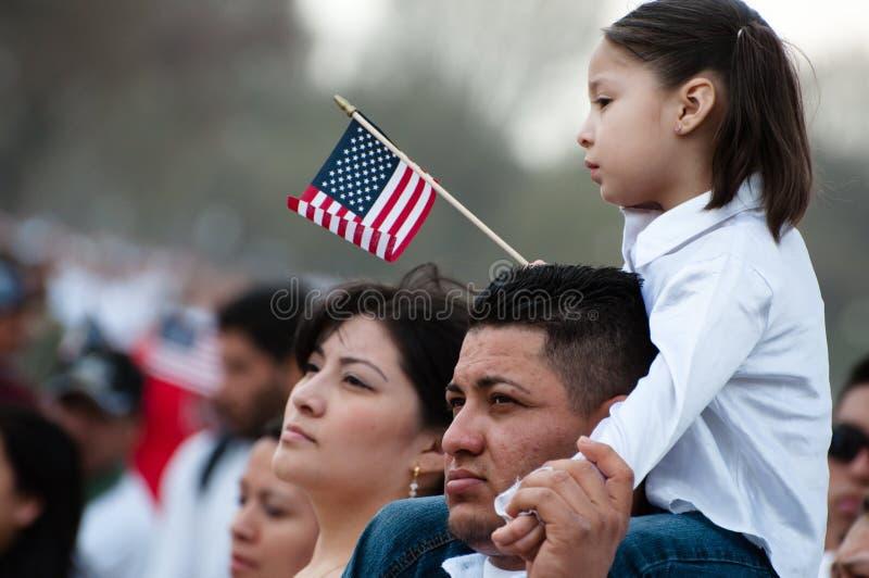 Immigration Rally in Washington royalty free stock photo