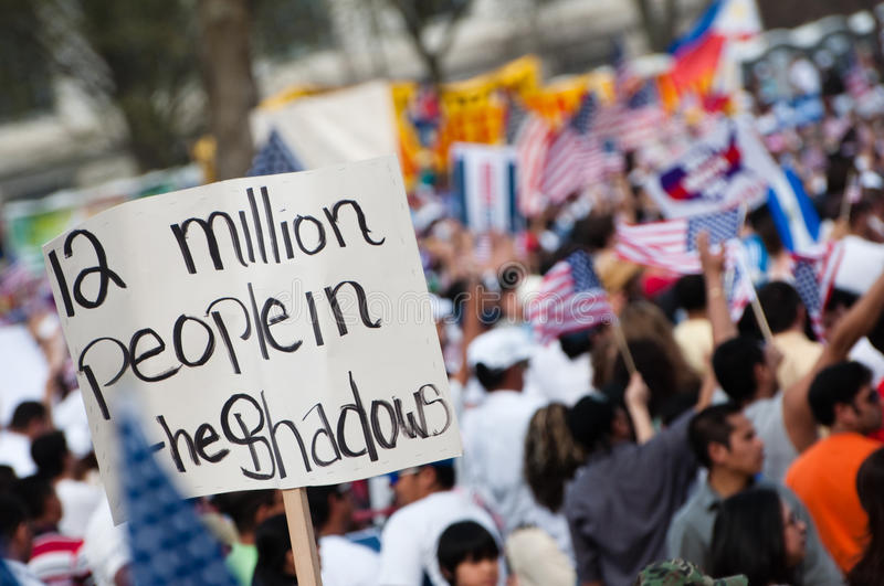 Download Immigration Rally In Washington Editorial Stock Image - Image of united, diverse: 13545034
