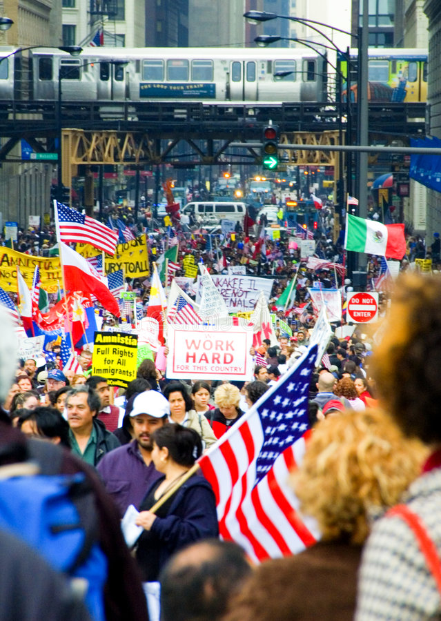 Download Immigration Rights editorial stock image. Image of rights - 4384979