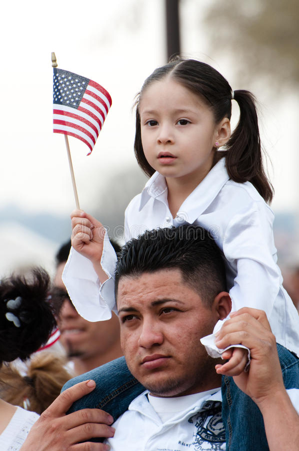 Immigration-Sammlung in Washington stockfotos