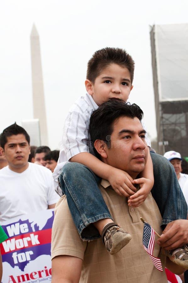 Immigration-Sammlung in Washington lizenzfreie stockbilder