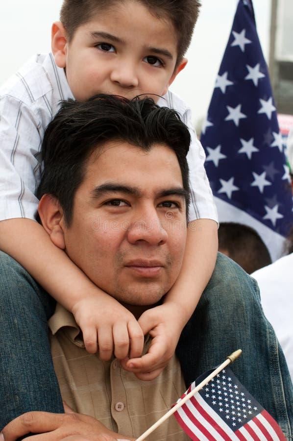 Immigration-Sammlung in Washington lizenzfreie stockfotografie
