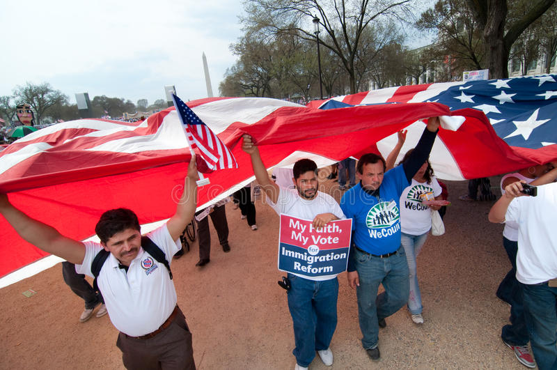 Immigration-Sammlung in Washington stockbilder