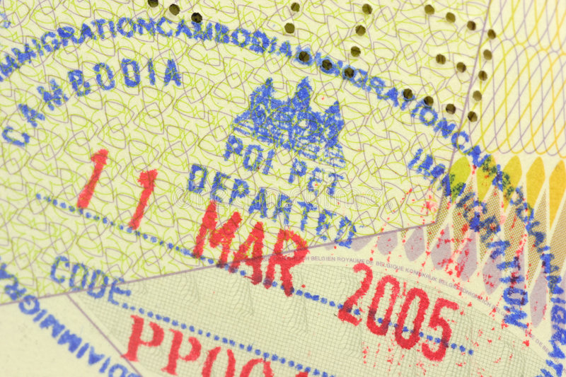 Immigration stamp stock images