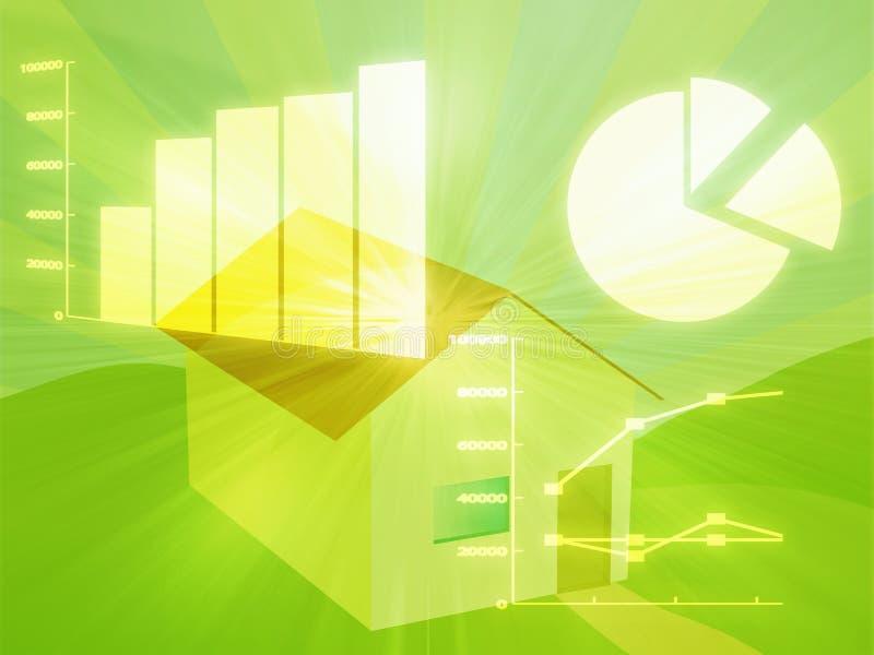 Immobiliënmarktanalyse stock illustratie