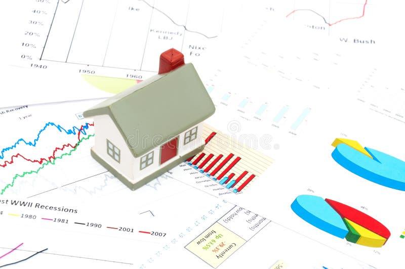 Immobiliënmarktconcept stock afbeeldingen