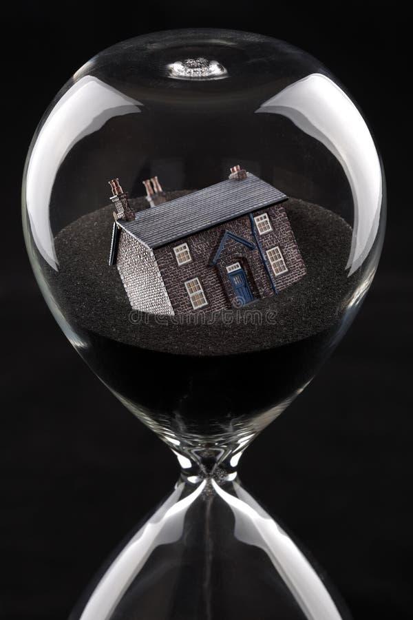 Immobiliënmarktinstorting stock fotografie
