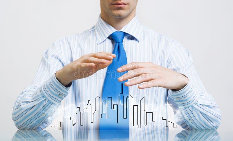 Download Immobiliarversicherung Und Sicherheit Stock Abbildung - Illustration von zustand, palme: 90237542