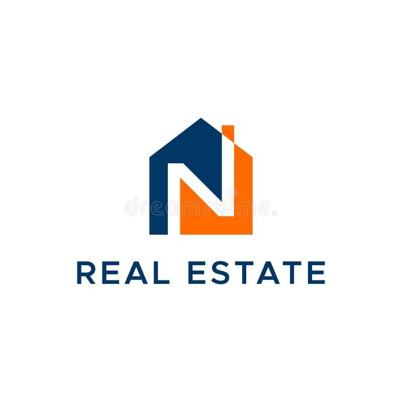 Immobilien Buchstabe- Nlogos lizenzfreie abbildung