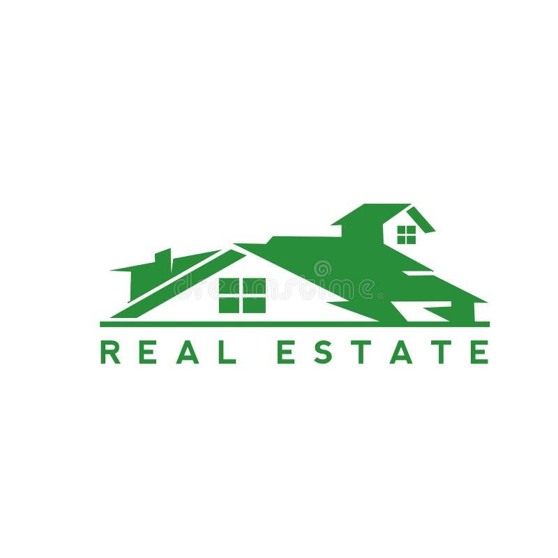 Immobilien der Zusammenfassung des grünen Hauses lizenzfreie abbildung