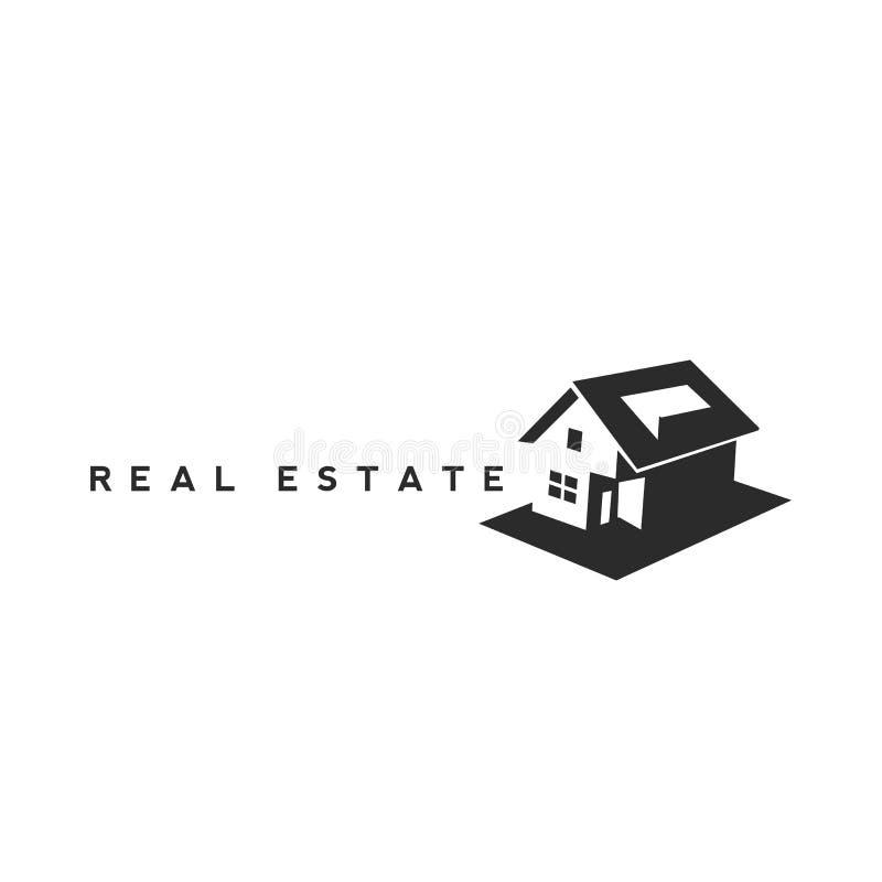 Immobilienagentur mit Hausmodell und -schlüsseln lizenzfreie abbildung