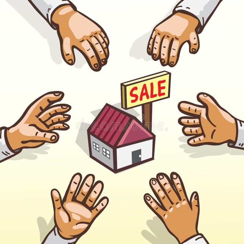 Immobilienkonzepteigenheimkäuferjagd lizenzfreie abbildung