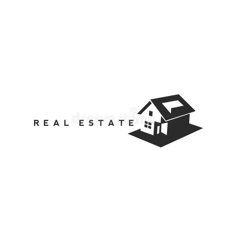 Immobilienlogo mit Vektorillustration vektor abbildung