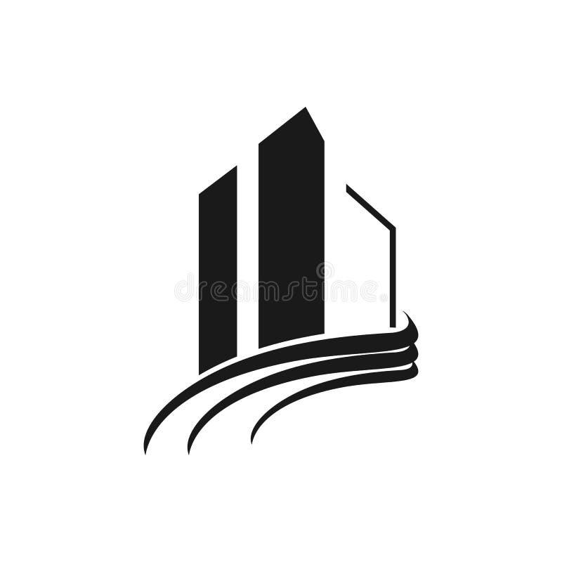 Immobilienlogodesigninspiration lizenzfreie abbildung