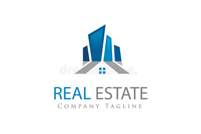 Immobilienlogodesignschablone lizenzfreie abbildung