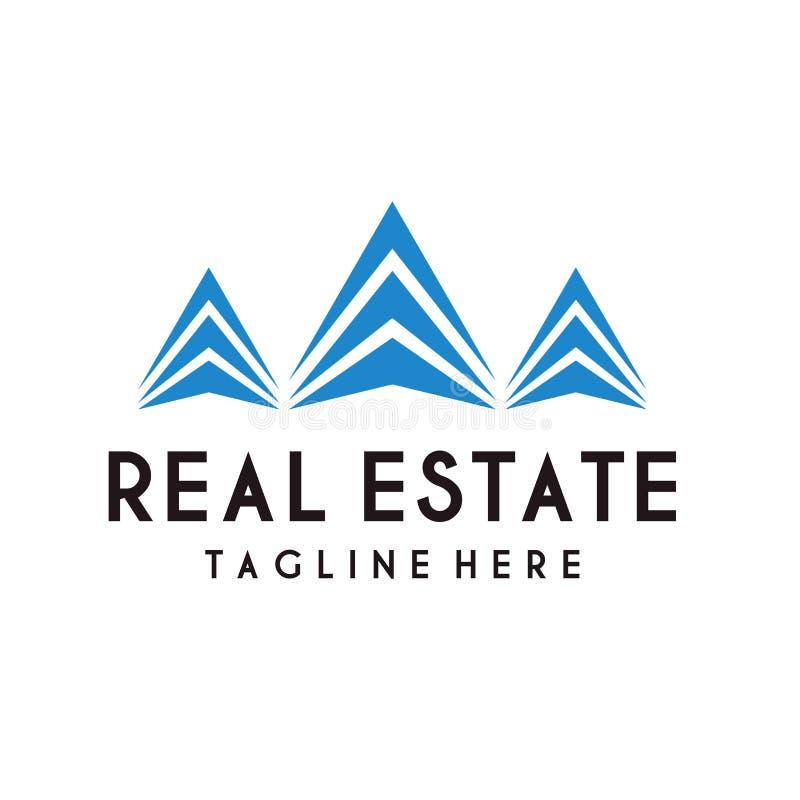 Immobilienlogodesignvektor lizenzfreie abbildung