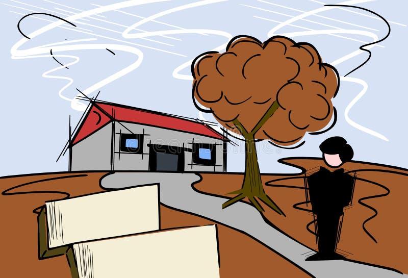 Immobilienmakler lizenzfreie abbildung