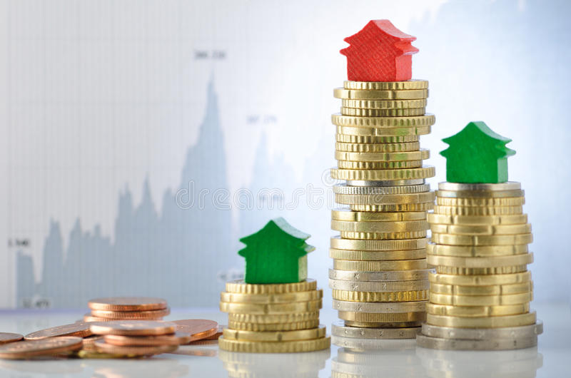 Immobilienmarkt stockfoto