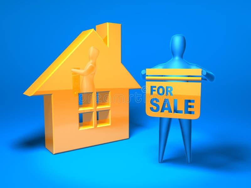 Immobilienmarkt lizenzfreie abbildung