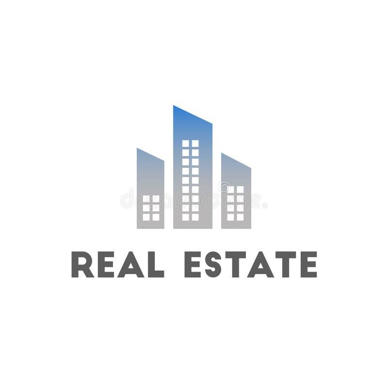 Immobiliers de calibre de logo Conception de style propre, moderne et élégant illustration stock