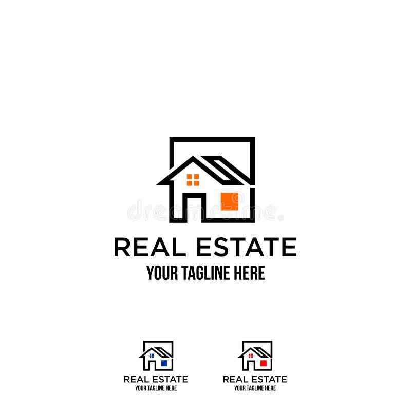 Immobiliers de Chambre, logos de construction illustration libre de droits