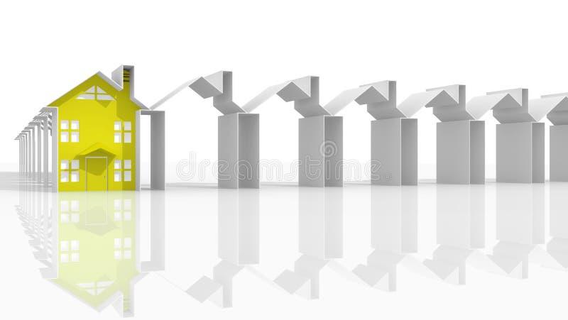 Immobiliers du marché de chef illustration libre de droits