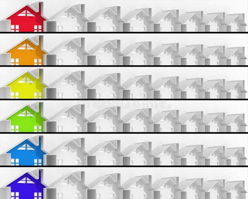 Immobiliers du marché de chef de bannières illustration stock