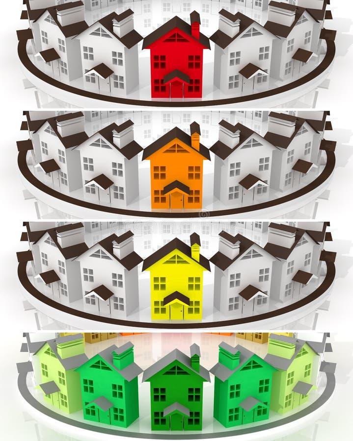 Immobiliers du marché de chef de bannières illustration libre de droits