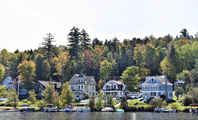 Immobiliers olympiques des Etats-Unis de l'état de Lake Placid New-York photos libres de droits