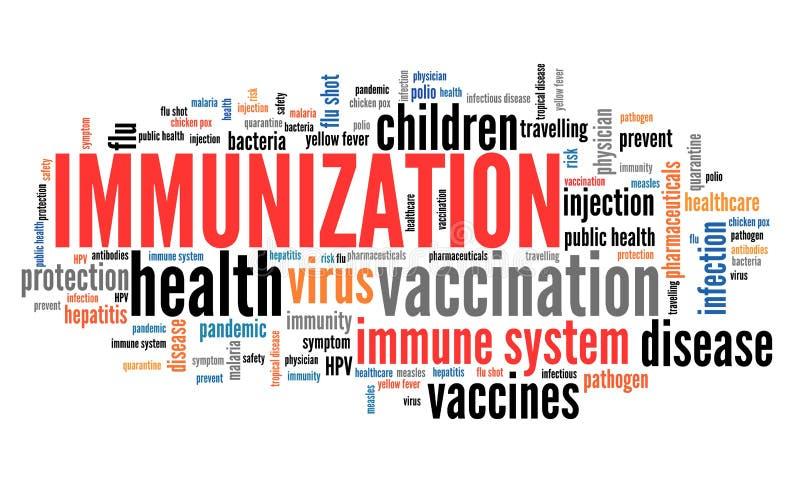 immunisation illustration stock