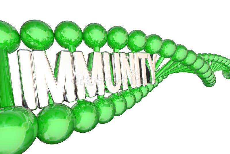 Immunitetowego zdrowia DNA słowa choroby Odporny opór 3d Illustrati royalty ilustracja