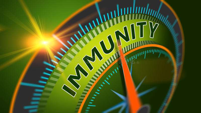 Immunity level position background. Immune system, healthy life concept royalty free illustration