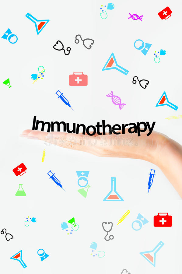 Immunotherapy tekst ilustracja wektor
