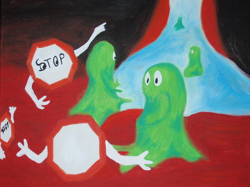 Download Immunsystem stock illustration. Image of creative, stop - 37977993