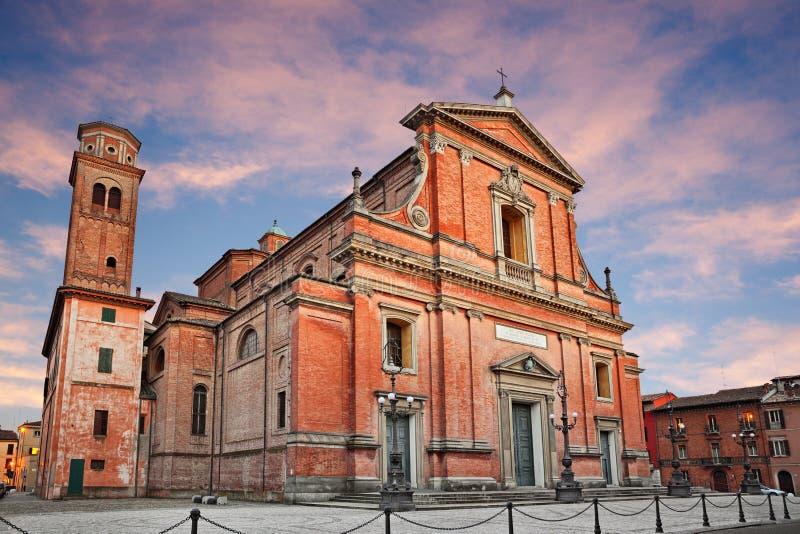 Imola, Bologna, emilia, Włochy: średniowieczna katedra obraz royalty free
