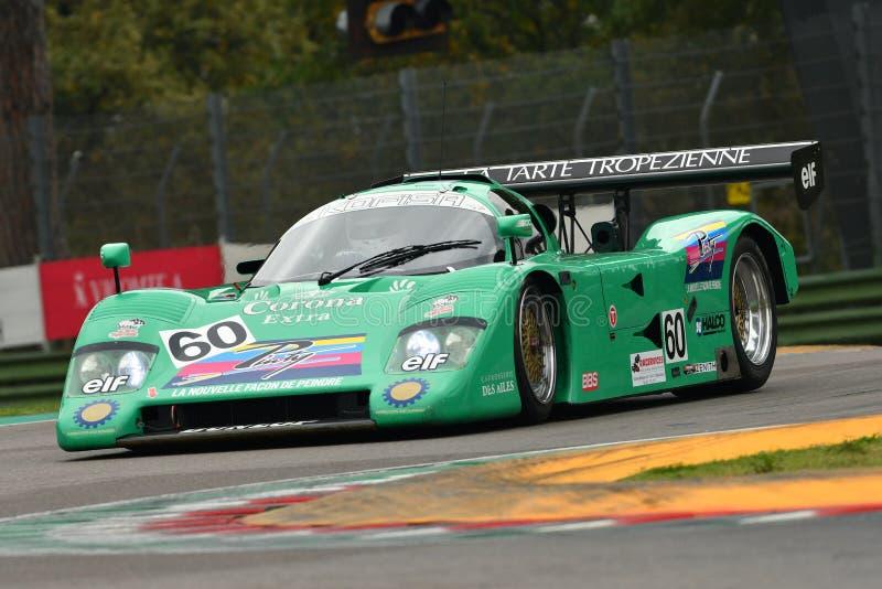 Imola Classic 26 de outubro de 2018: Protótipo 1989 da chita G606 Le Mans conduzido por Eric RICKENBACHER durante a sessão de prá imagem de stock royalty free